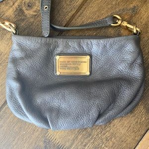 Marc by Marc Jacobs dark grey mini leather purse